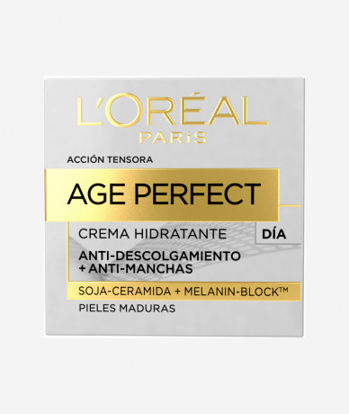 L'oreal Age Perfect Crema Hidratante de Día Anti-descolgamiento + Anti-manchas para Pieles Maduras