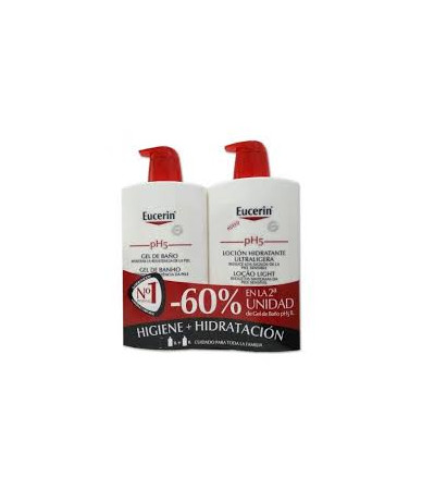PACK EUCERIN PH5 GEL BAÑO 1...